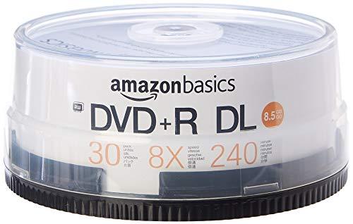 Amazon Basics – DVD+R-DL-Rohlinge, 8,5 GB, 8x, Spindel mit 30 Stück