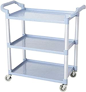 Cart,Medical Cart,Dining Car,Recoger,Beauty Salon Trolley 3 Tier Catering Utility Cart with Handle, Plastic Service Cleani...