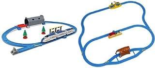 プラレール トンネルを照らそう! ライト付E7系新幹線かがやき ベーシックセットとプラレール プラレールをはじめよう! レールベーシックセットのセット