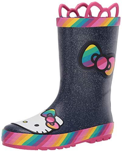 Western Chief Kids Girl's Hello Kitty Rainy Bow Rain Boots (Toddler/Little Kid/Big Kid) Rainbow 10 Toddler