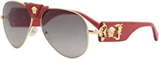 Versace VE2150Q Sunglasses 100211-62 - Gold Frame, Grey...