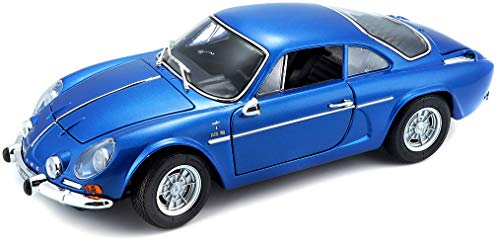BBURAGO MAISTO FRANCE- Voiture Miniature-Alpine Renault 1600 S Stradale 1971-Echelle 1/18, M31750, Bleu