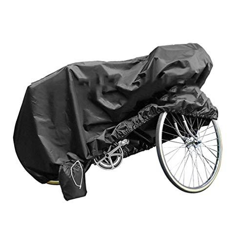 LIOOBO Funda Exterior de la Bicicleta a Prueba de Agua Cubre Cubierta a Prueba de Lluvia Viento Solar UV Polvo para Bicicleta de Carretera de montaña de la Bicicleta (Negro) Talla L