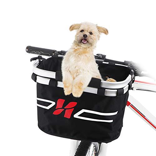 HXZB Frente De La Bicicleta Plegable Cesta Manillar De La Bici Cesta del Gato del Perro del Animal Doméstico del Portador del Bolso De Compras Bolsa De Trayecto Accesorios De Viaje