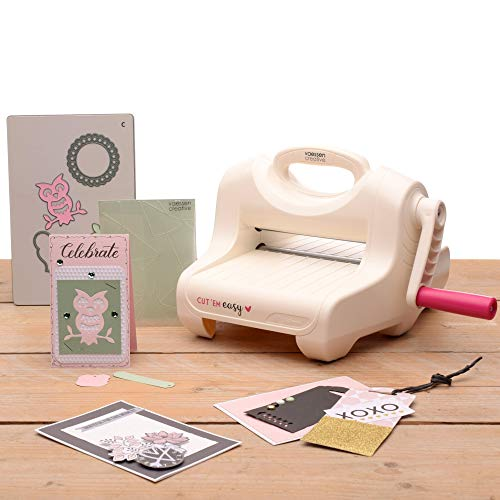 Vaessen Creative Cut'Em Easy-Cutting & Embossing Machine-Starter Kit,...