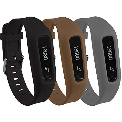 QGHXO Buckle Bracelet for Fitbit One, Replacement Silicone Band with Chrome Watch Clasp and Fastener Buckle for Fitbit One