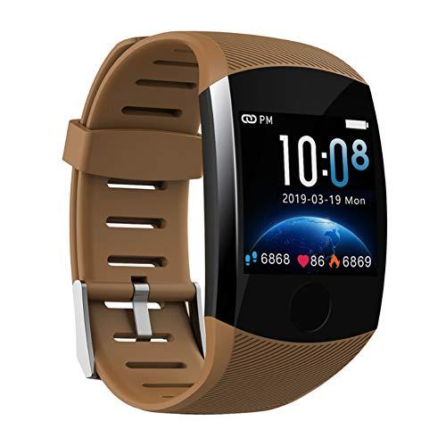 Q11 Fitness Tracker Armband Smart Horloge met Activiteit Mode Hartslag Bloeddruk Bluetooth Step Counter Sleep Monitor 1.3 Touch Screen IP68 Waterdichte Polsband size Koffie