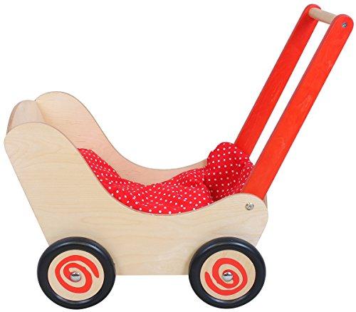 Unbekannt Simply for Kids 1161 Bois poupée Chariot, Red