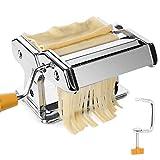 TAECOOOL Macchina per la pasta da cucina, professionale in acciaio inox, fatta a mano, per spaghetti, lasagne o gnocchi