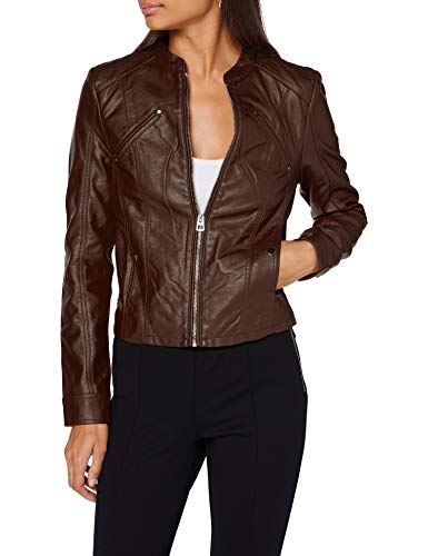 VERO MODA Damen VMFAVODONA Coated Jacket Kunstlederjacke, Chocolate Plum, M