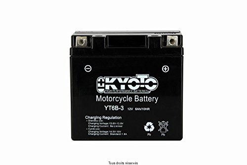 Batterie Moto KYOTO Yt6b-3 - Ss Entr. GEL L 114mm W 70mm H 105mm 12v 6ah Pré Remplie
