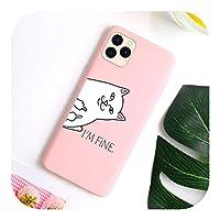 Csddg For iPhone 12 11Proマックスケース用かわいいキャンディシリコン電話カバーFor iPhoneXR XXSマックス12ミニSE2020 7 8 66sプラス55sケース用-Pink9 I052-For iPhone 7 Plus