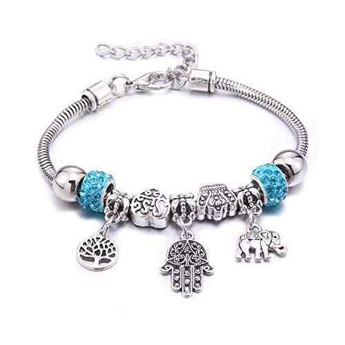 Pulsera y brazaletes con abalorios de corona de mariposa blanca para mujeres y niñas, regalo de amistad