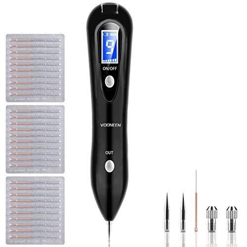 Muttermal Entfernen - Leestar Maulwurf Entfernen Professioneller Schönheits-Stift, mit 9 Stärke Stufen für Gesicht und Körper, Entfernung Warzen, Nävus, Muttermal, mit LCD-Bildschirm, USB Aufladbar