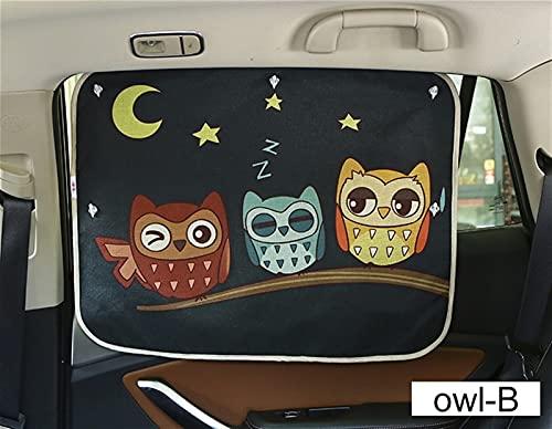 Cortinas de coche Coche de parabrisas Coche Sun Shade Cortinas de dibujos animados lindo Estilo de carro Ventana de lado trasero Sombrilla Proteger cortinas de ventana 70 cm * 50cm ( Color : Owl B )