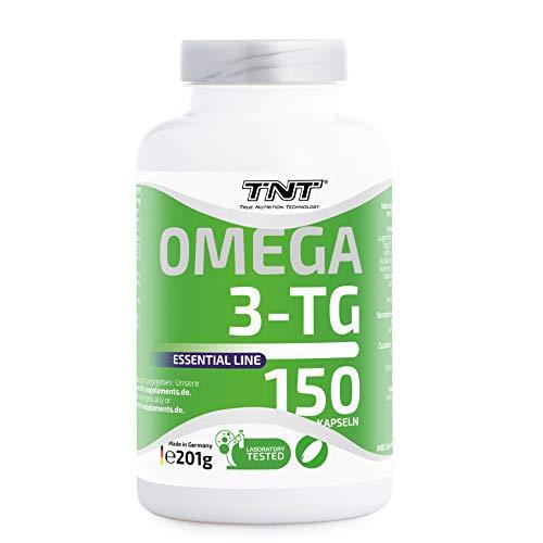 TNT Omega 3-TG │ Hochwertige und essentielle Fettsäuren │ Fischölkapseln mit EPA und DHA unterstützen die Gesundheit, Fitness und das Immunsysstem │150 Kapseln - 2