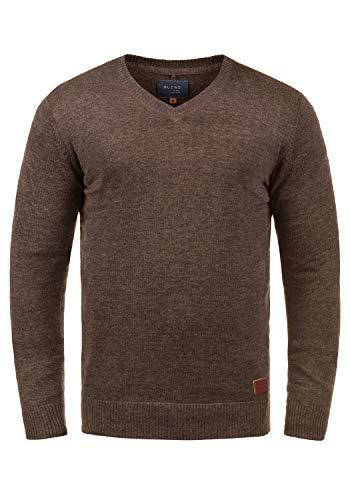 BLEND Lasse - Jerséis para Hombre, tamaño:L;color:Mocca Mix (70816)