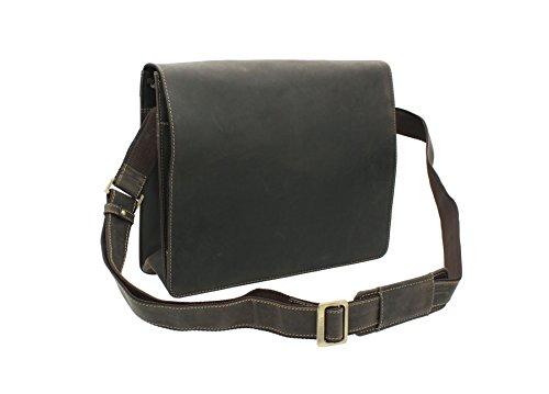 Visconti Harvard Leder A4 Messenger Tasche Schultertasche 18548 Öl braun