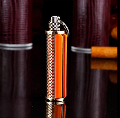 Amara Schlüsselbund Edelstahl Match Feuerzeuge,Permanent Metal Feuerzeug,wasserdicht Winddicht tragbar ohne Petroleum,Mode Persönlichkeit/Creative Geschenke(2 Stück),Golden