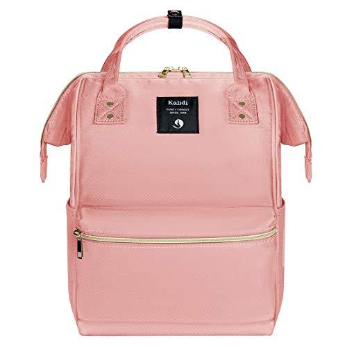 KALIDI Rucksack Damen Rucksack Herren Mädchen Jungen & Kinder Vintage Schulrucksack mit laptopfach für 15 Zoll Notebook,wasserdichte Schultasche,Rosa
