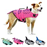 KOESON Dog Life Jacket, Fashion Pet Swimming Vest, Puppy Life Saver with Adjustable Strong Handle-Pink-S