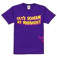 [スコーピー] ネコ好き のための 猫柄 Tシャツ CAT'S SCREAM パープル XL