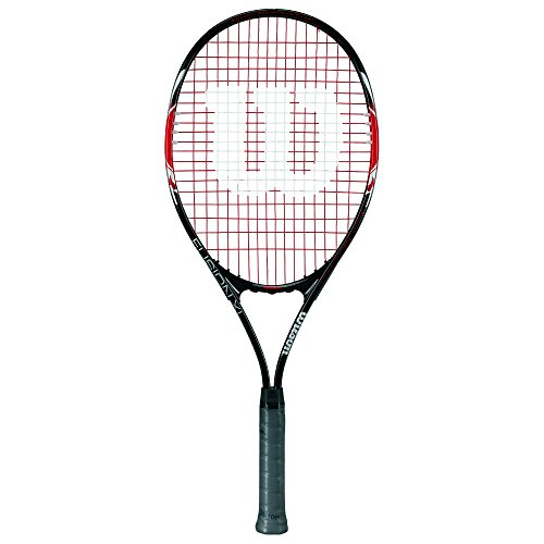 Wilson Raqueta de tenis, Fusion XL, Jugador recreativo y principiante, Negro/rojo, WRT30270U3