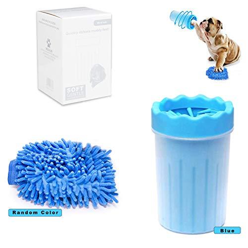 Sunshine smile pulitore Zampe Cane,Pulizia Zampe per Cani,Spazzola per Animali Domestici,pulisci Zampe per Cani,pulitore Zampe per Animali Domestici (Blu)
