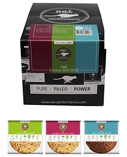 eat Performance® Big Box Cookie (15x 40g) - Bio, Paleo, Glutenfreie Kekse 100% Natürlichen Zutaten