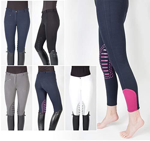 PFIFF 102455 Cilia - Pantaloni da equitazione da donna, Nero , 38