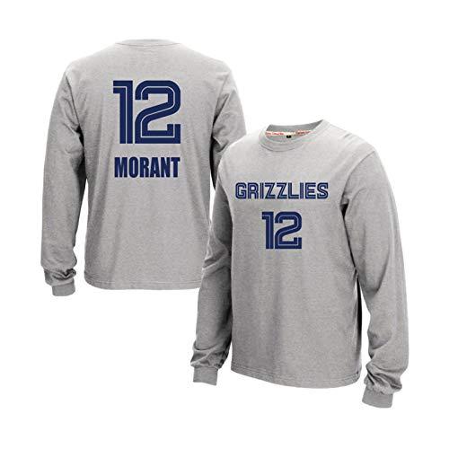 Sudadera de baloncesto Ja Morant #12 Vancouver Grizzlies Jersey, sudadera con capucha para hombre y mujer, sudadera de baloncesto suelta