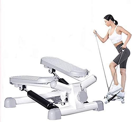 ZZTX Básculas de Fitness para Hombres y Mujeres, Mini Escalera para Entrenamiento Cardiovascular, máquina giratoria de Altura Ajustable, Equipo de Ejercicio con báscula, con cordón