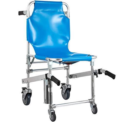 VEVOR 160 kg Kletterrollstuhl Aluminiumlegierung 93x51x43cm Treppenlift Menschen Angetrieben Kletterrollstuhl Belastbarkeit(Blau)