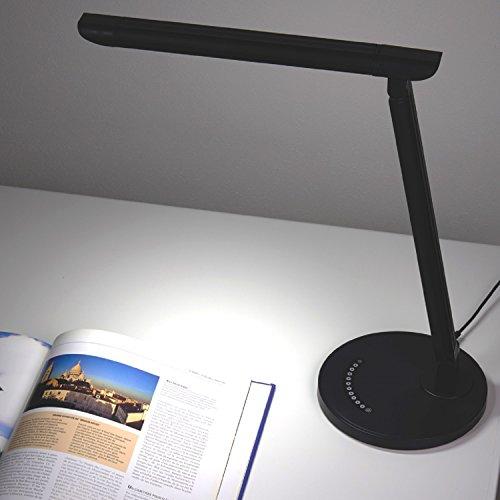 『YAZAWA(ヤザワ) 調光機能付白色LEDスタンドライト ブラック・SDLE07N12BK』の8枚目の画像
