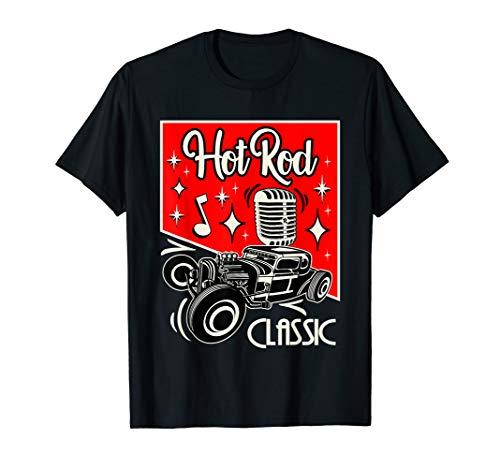 Hot Rod Rockabilly Clothing 50s Sock Hop Vintage Classic Car T-Shirt