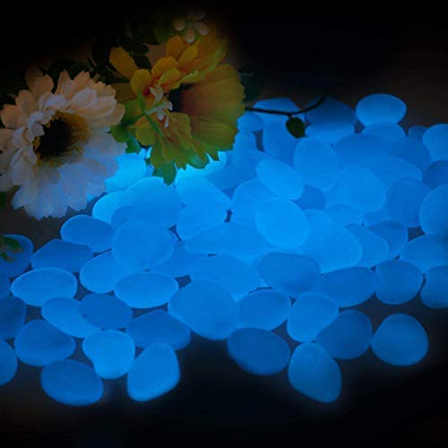Smooce Pietre Luminose da Giardino,Decorative Ciottoli Luminosi Brillanti 200 Pezzi Pietre da Giardino per Decorazione di Corridoio Aperto, Decorare Acquario Cortile