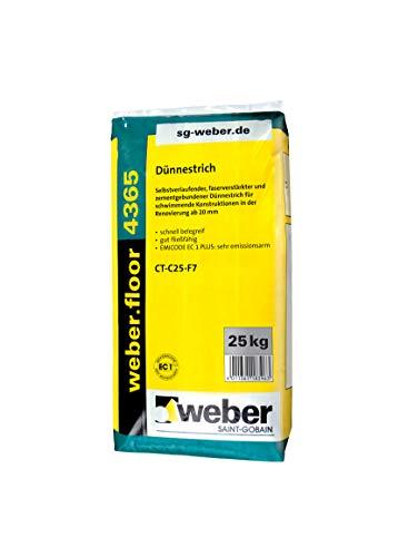 weber.floor 4365 Dünnestrich 25 kg Estrich Ausgleichmasse Bodenausgleich