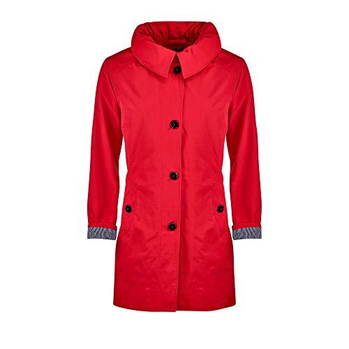 Betty Barclay 70381039 Damen Mantel mit Knöpfen Kapuze und Langarm Länge Mittel, Groesse 44, rot