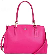 Coach F36637 IMBAJ Crossgrain Leather SM Christie Carryall Satchel Shoulder Bag - Pink Ruby