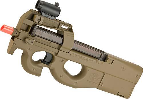 Evike FN Herstal Licensed P90 Full Size Metal Gearbox Airsoft AEG (Color: Dark Earth)