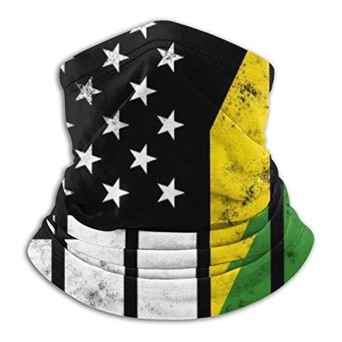 Lzz-Shop Multifunktionstuch Bandanas Schal,Schlauchtuch,Kopftuch,Stirnband,Tuch Halsschlauch Distressed Jamaica American Flag