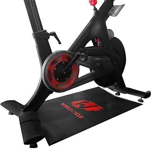 Exercise Mat for Peloton Bike | Workout Mat | Gym Mat for Bike Trainer | Cycling Accessories | Gym Equipment Mat for Carpet and Floor Protection