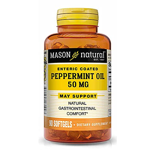 Mason Natural Peppermint Oil 50 mg'Enteric Coated' - Natural...