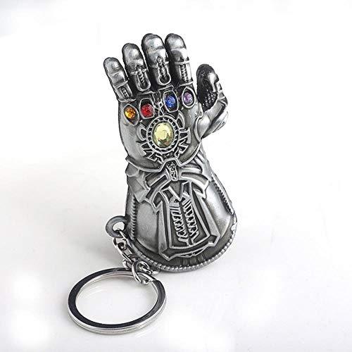 siyu The Avengers 4 Ultimativer Kampf Schlüsselbund Thanos Infinite Energy Gloves Schlüsselanhänger für Zubehör wie die Marvel-Serie, K525-2