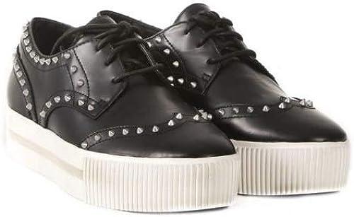 Ash , Chaussures de Ville à Lacets pour Femme Noir Noir
