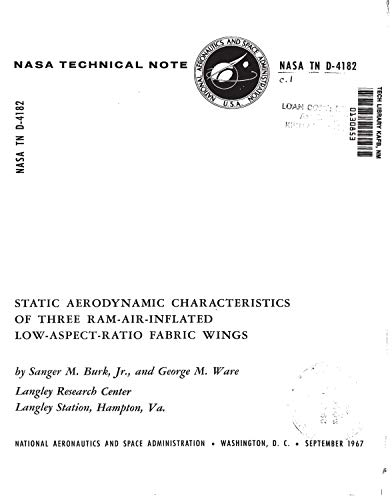 Static aerodynamic characteristics of three ram-air-inflated low aspect ratio fabric wings (English Edition)