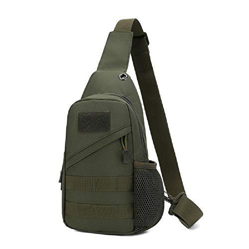 Militar Táctico con Hombro USB Bolso De Pecho Multifunción Masculino Gran Capacidad De Gran Capacidad Pequeña, Army Green