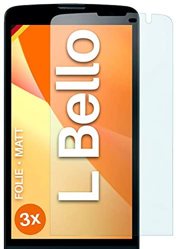 moex Schutzfolie matt kompatibel mit LG L Bello - Folie gegen Reflexionen, Anti Reflex Bildschirmschutz, Matte Bildschirmfolie - 3X Stück