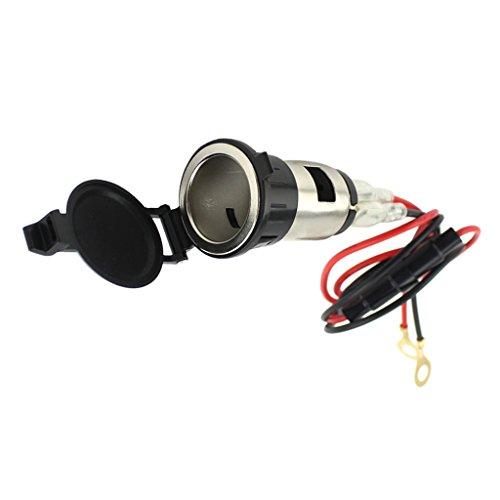 MagiDeal 12V Prise Électrique avec Fil Fusible Porte Charge Téléphone Portable GPS pour Moto Motocycle
