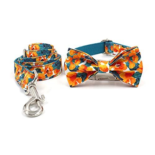 ZZCR Collar De Perro Conjunto De Correa Collar Bowknot Collar Suave De Seguridad En Forma De Perro De Varios Tamaños B M